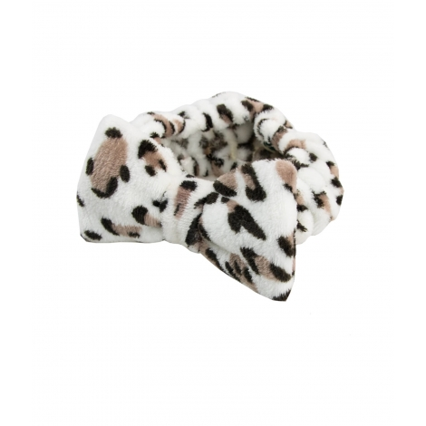 The Vintage Company PROTECT HAIR BAND leopard print